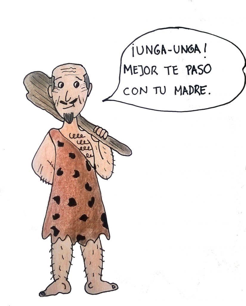 papá cavernícola